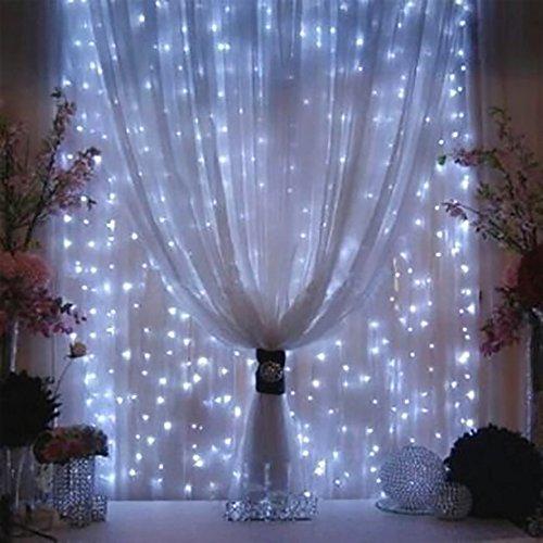 Weihnachtsdeko Led Fenster.Weihnachtsdeko Fenster Led Am Vorhang Eiszapfen Lichterkette 300