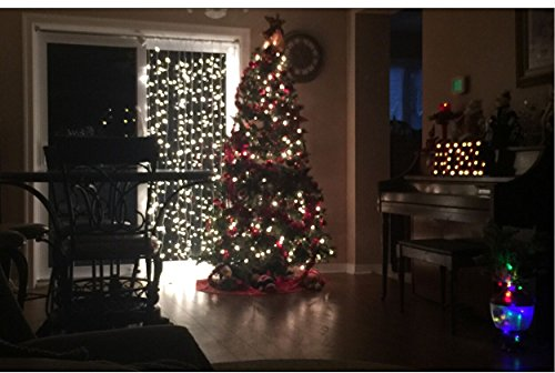 Led Weihnachtsdeko Fenster.Weihnachtsdeko Fenster Led Am Vorhang Eiszapfen Lichterkette 300