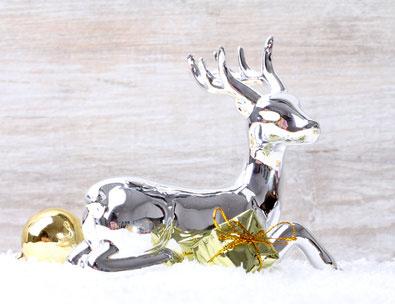 Weihnachtsdeko in silber