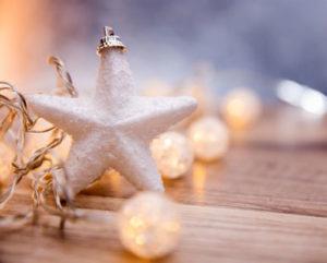 schöne Weihnachtsbeleuchtung