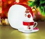 Kaffeeservice Weihnachtsdekor