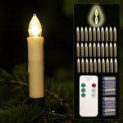Christbaumkerzen LED mit Fernbedienung