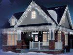 LED schneebedeckte Eiszapfen
