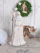 Weihnachtsmann Figur Exklusiv weiß