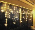 LED Lichtervorhang Sterne Farbwechsel für Innen/Außen