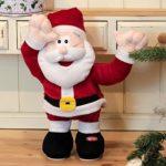 Tanzender und singender Weihnachtsmann