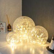 LED Glaskugeln warmweiß