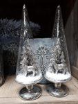 Glasspitze mit Baum & Hirsch silber