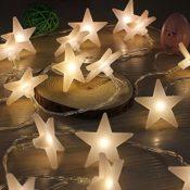 Lichterkette 20 LED Sterne warm weiß