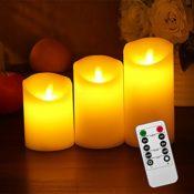 Set LED Echtwachskerze mit beweglicher Flamme