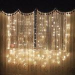 Lichtervorhang Sterne Led