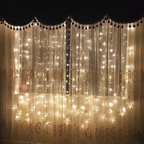 Lichtervorhang sterne led warmwei - Amazon weihnachtsdeko ...