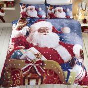 Bettwäsche mit Weihnachtsmann und Schlitten