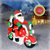 Beleuchteter Weihnachtsmann