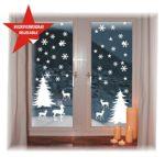 Fensterbild -Wintermotiv